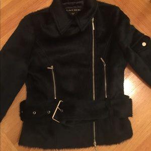blanc noir Jackets & Coats - Blanc Noir Faux Fur Limited Edition Coat